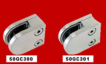 316 Round & Flat Back Glass Clamps.  Suit 6 & 8mm Glass. Others available for 10-12mm glass.