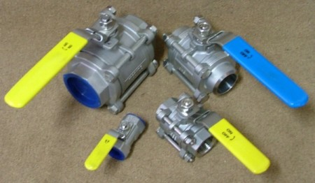 Ball Valves 1,2 & 3 Peice