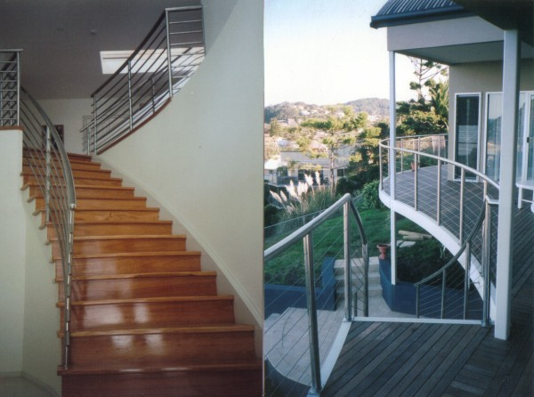 Stainless Handrail & Glass